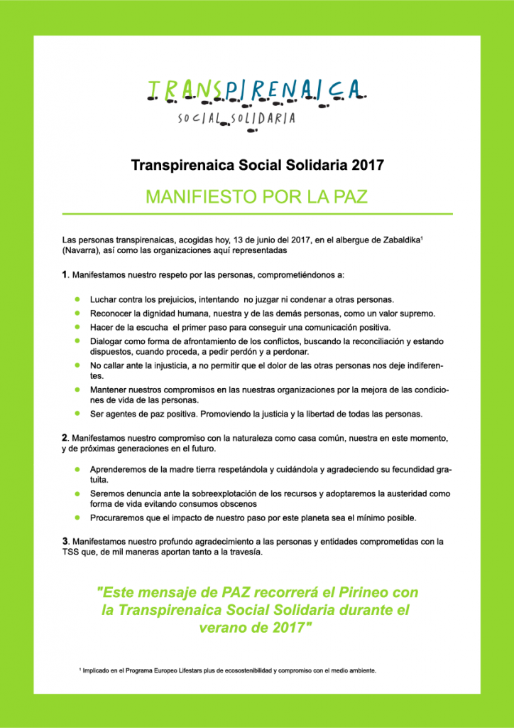 Manifiesto POR LA PAZ TSS FINAL 2017